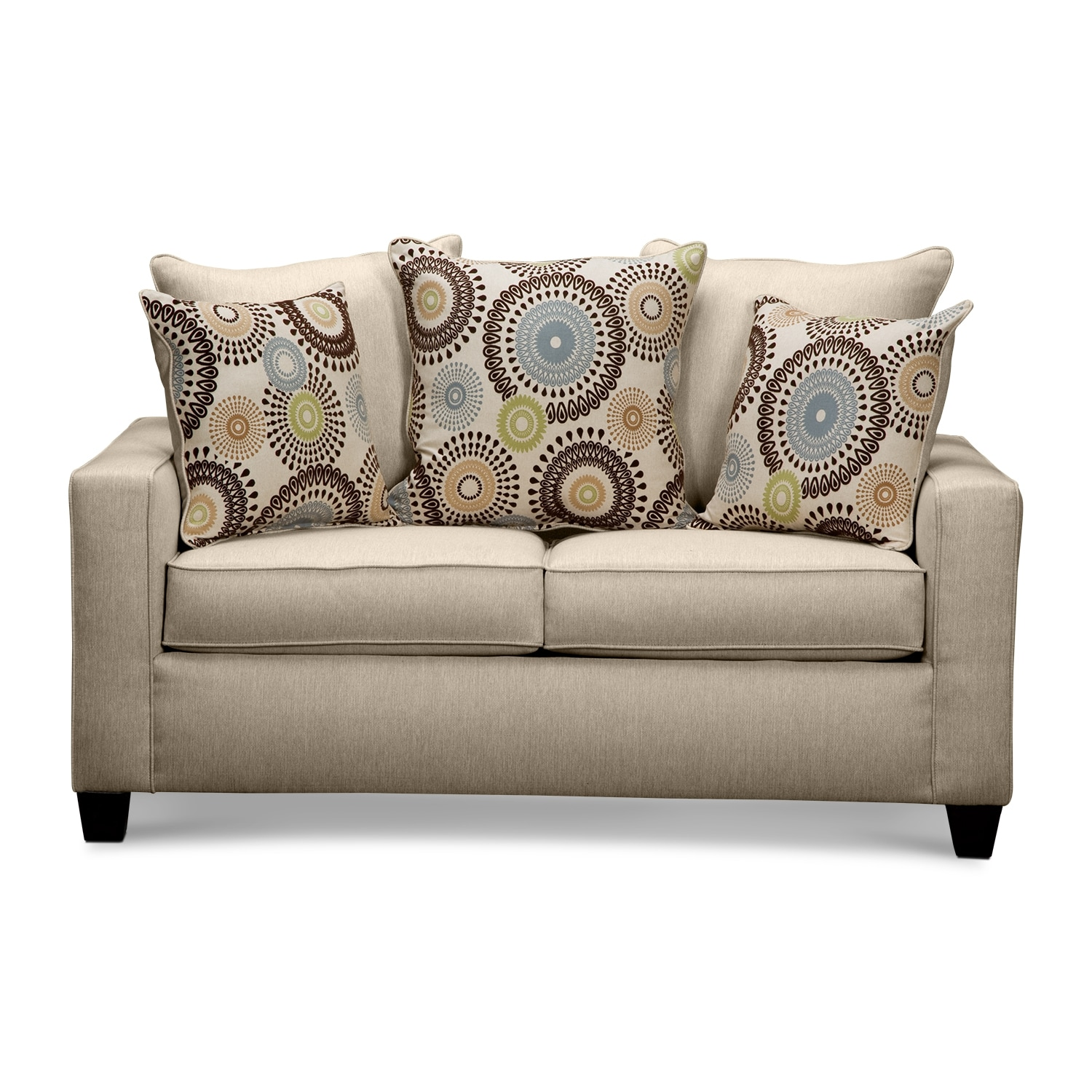 American signature furniture stoked upholstery loveseat