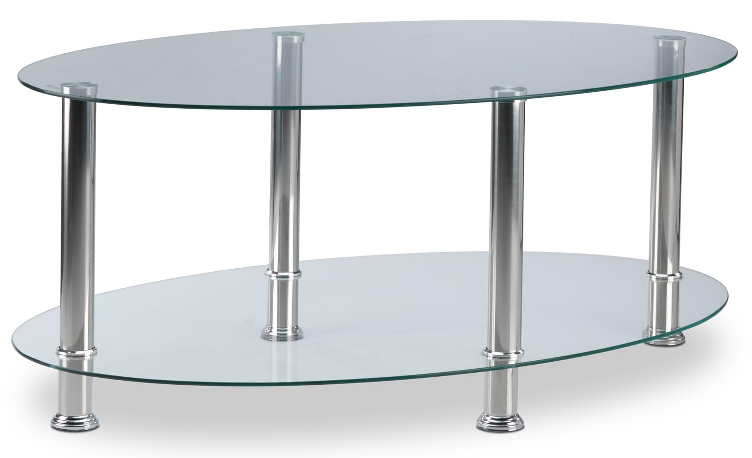 jenny coffee table  chrome  leon's - hover to zoom
