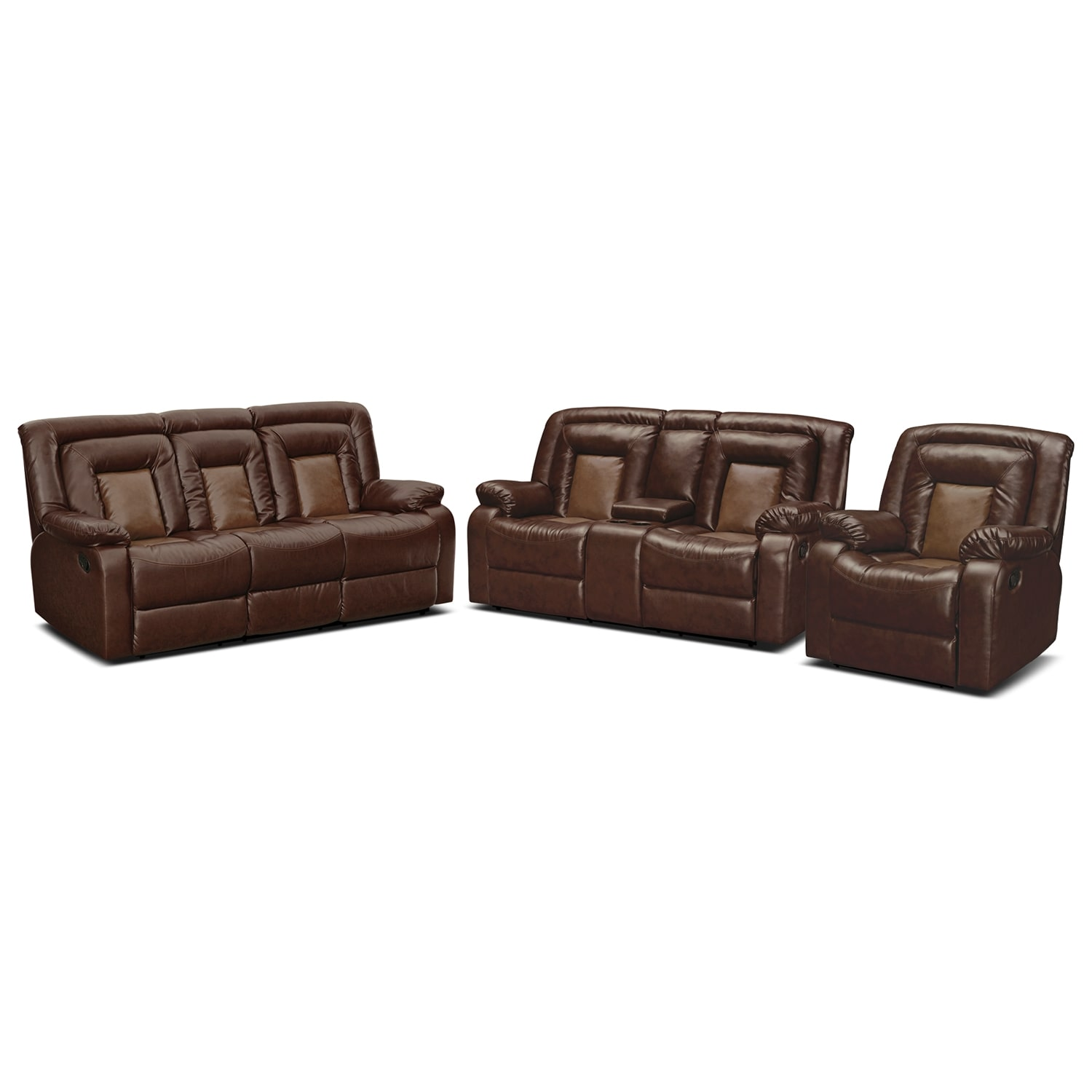 Value city furniture Reclining living room furniture