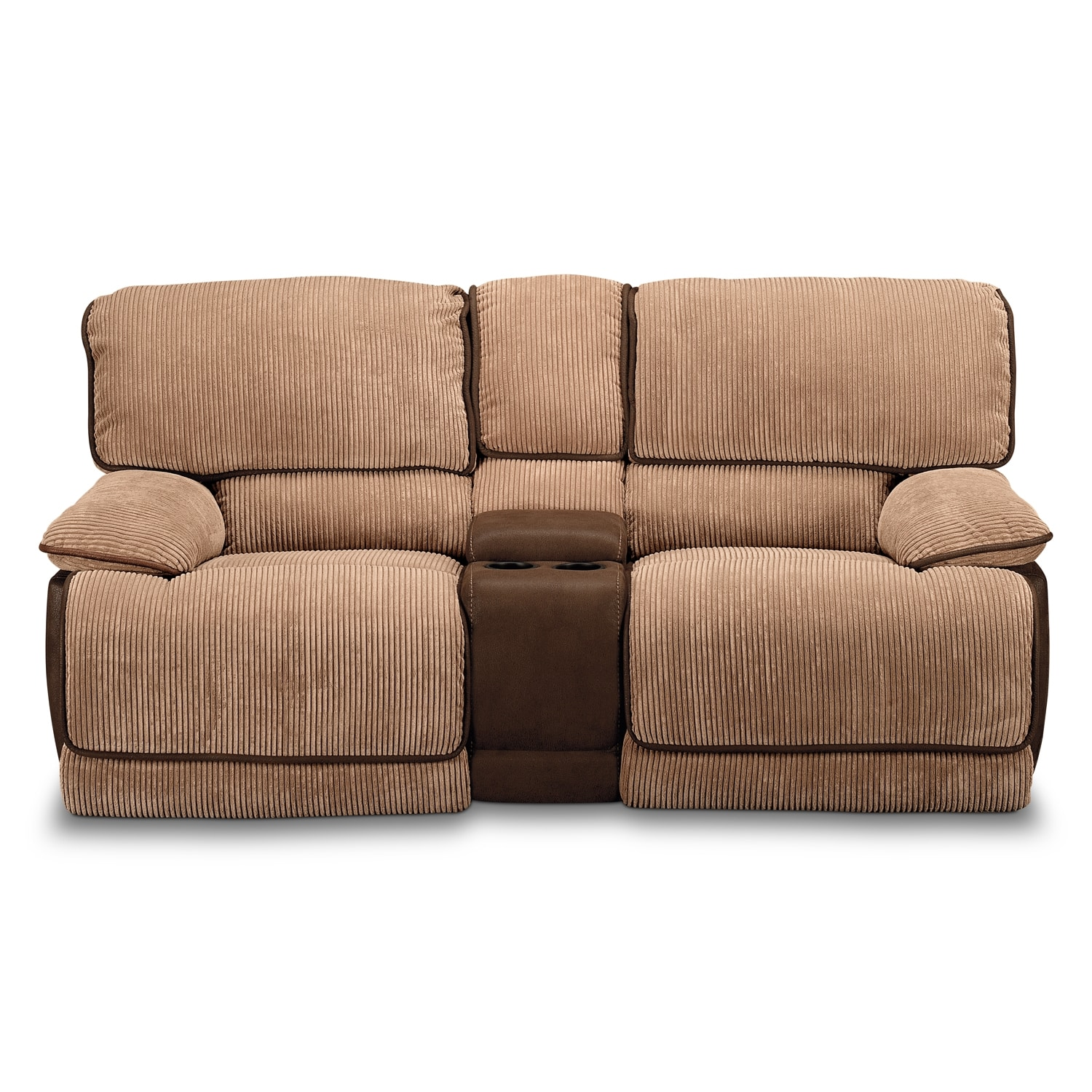 Laguna Gliding Reclining Loveseat Camel Value City Furniture