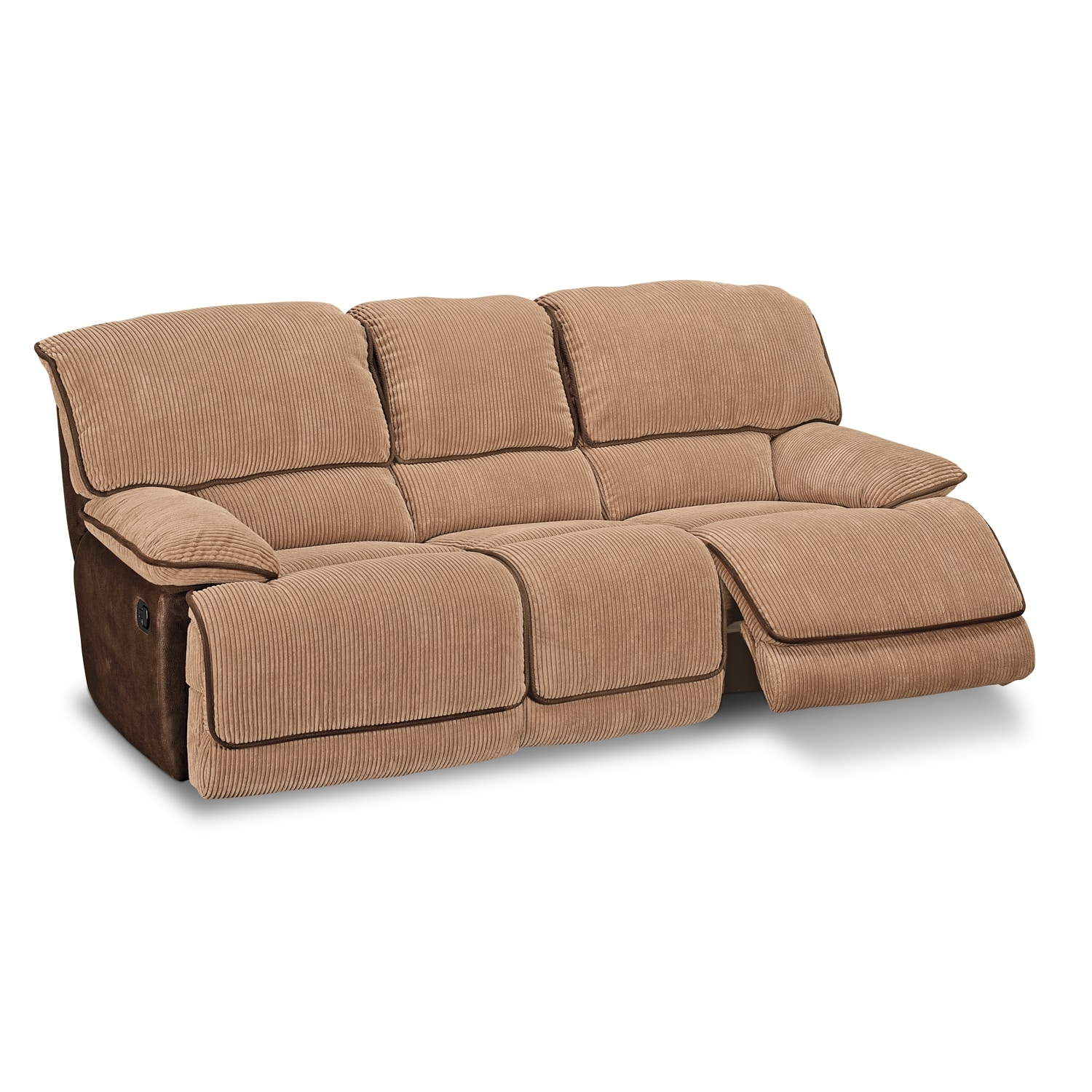 Laguna Upholstery Dual Reclining Sofa American Signature Furniture