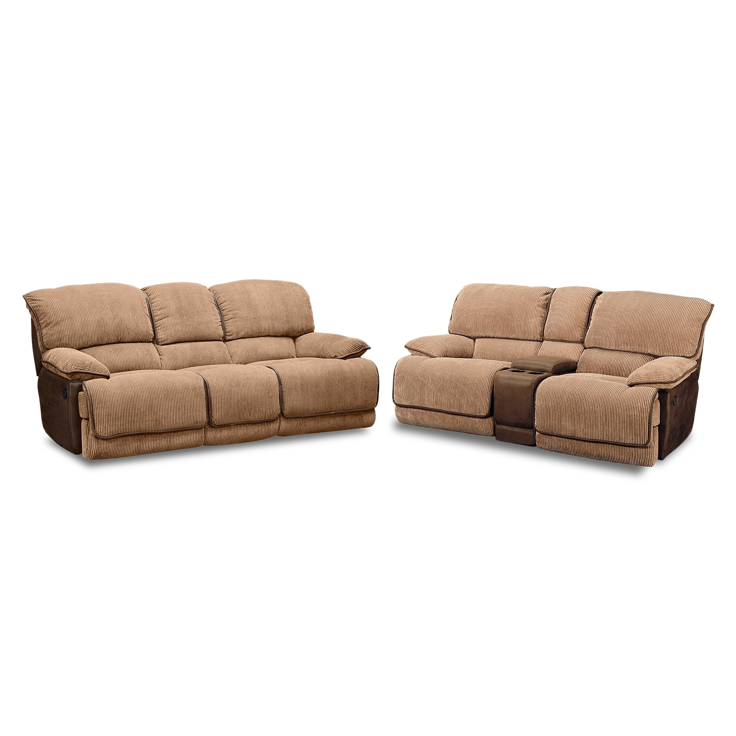 Laguna Reclining Sofa And Gliding Reclining Loveseat Set