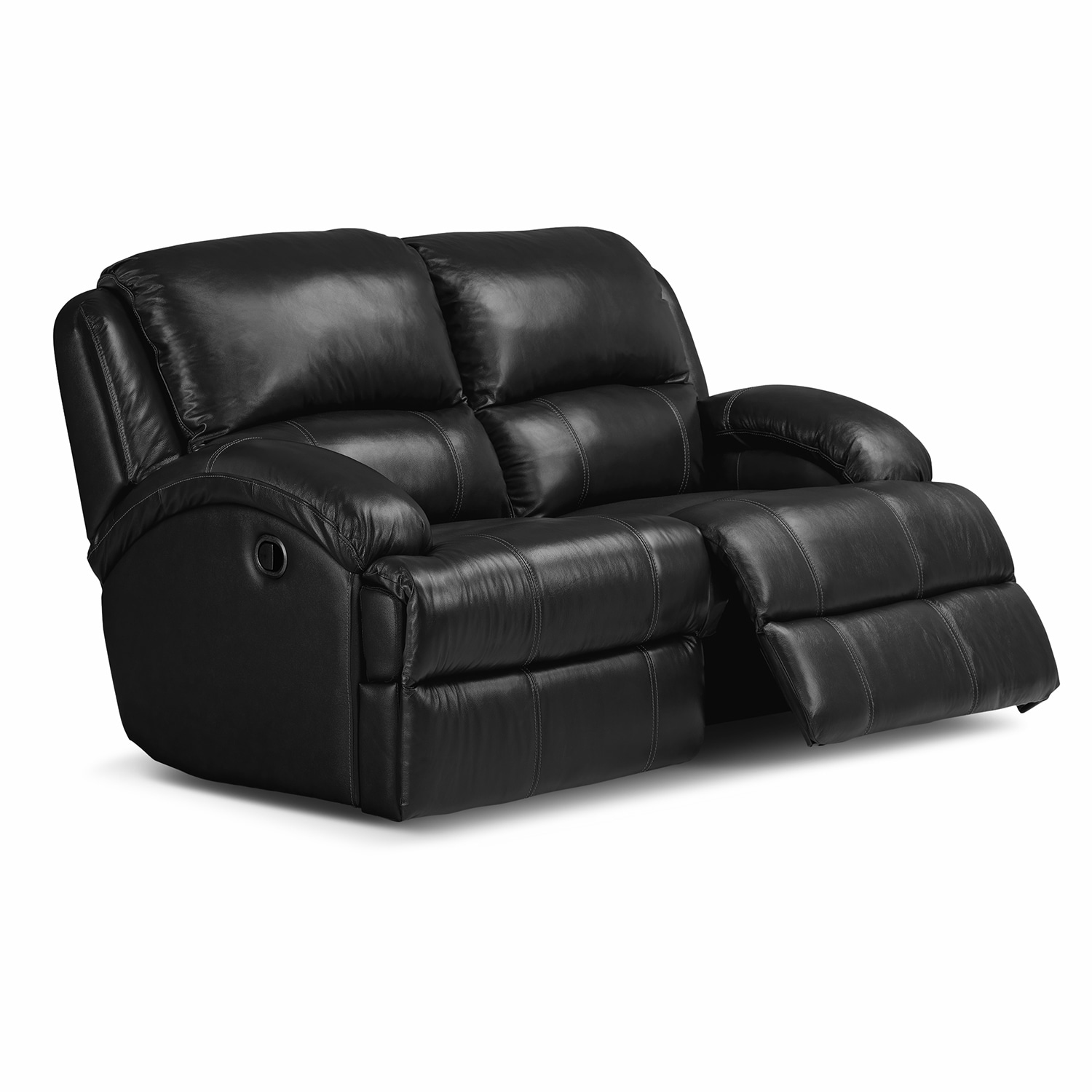 Nolan Ii Leather Dual Reclining Loveseat Value City Furniture