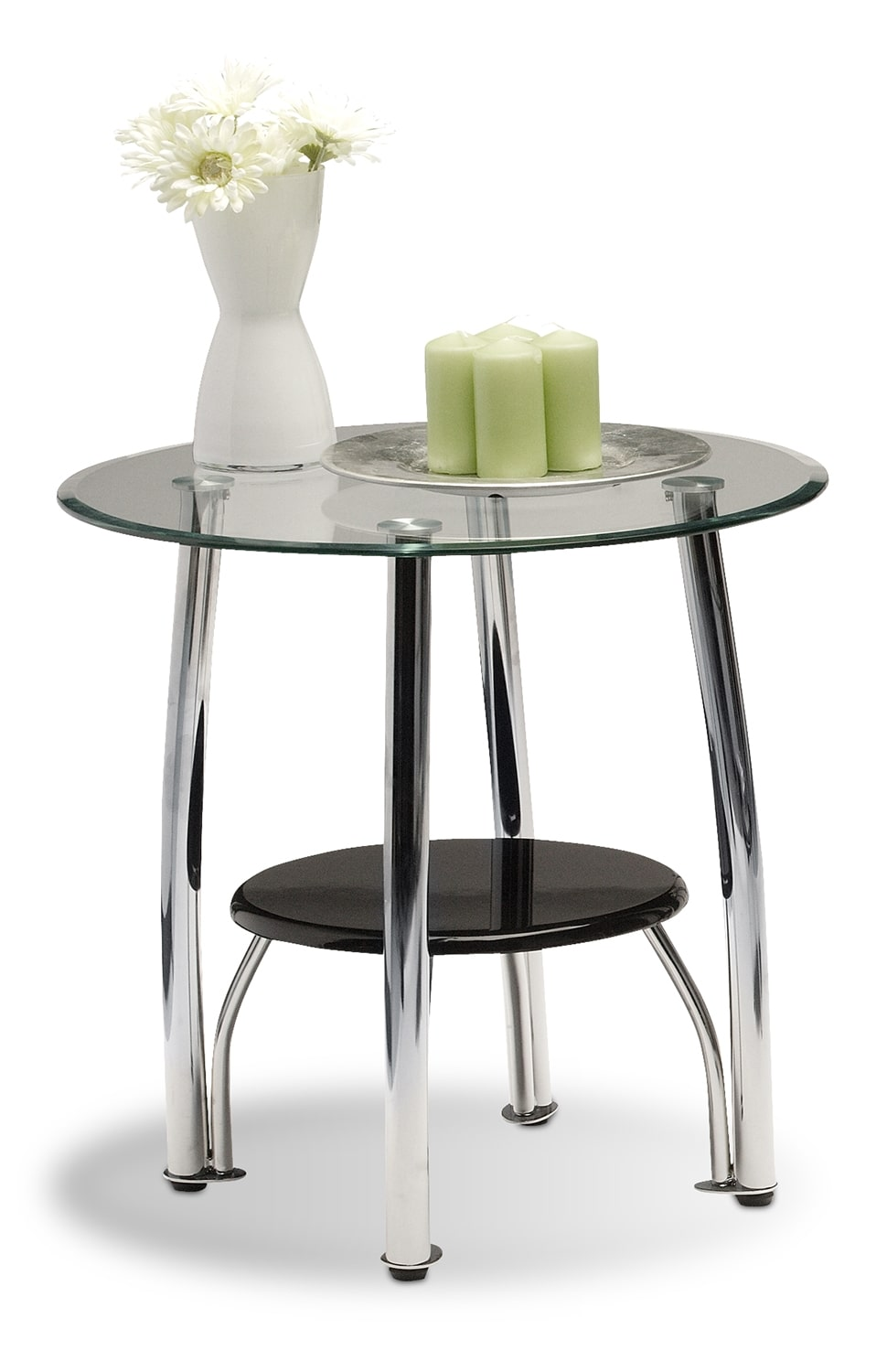 Accent and Occasional Furniture - Ventura End Table - Chrome
