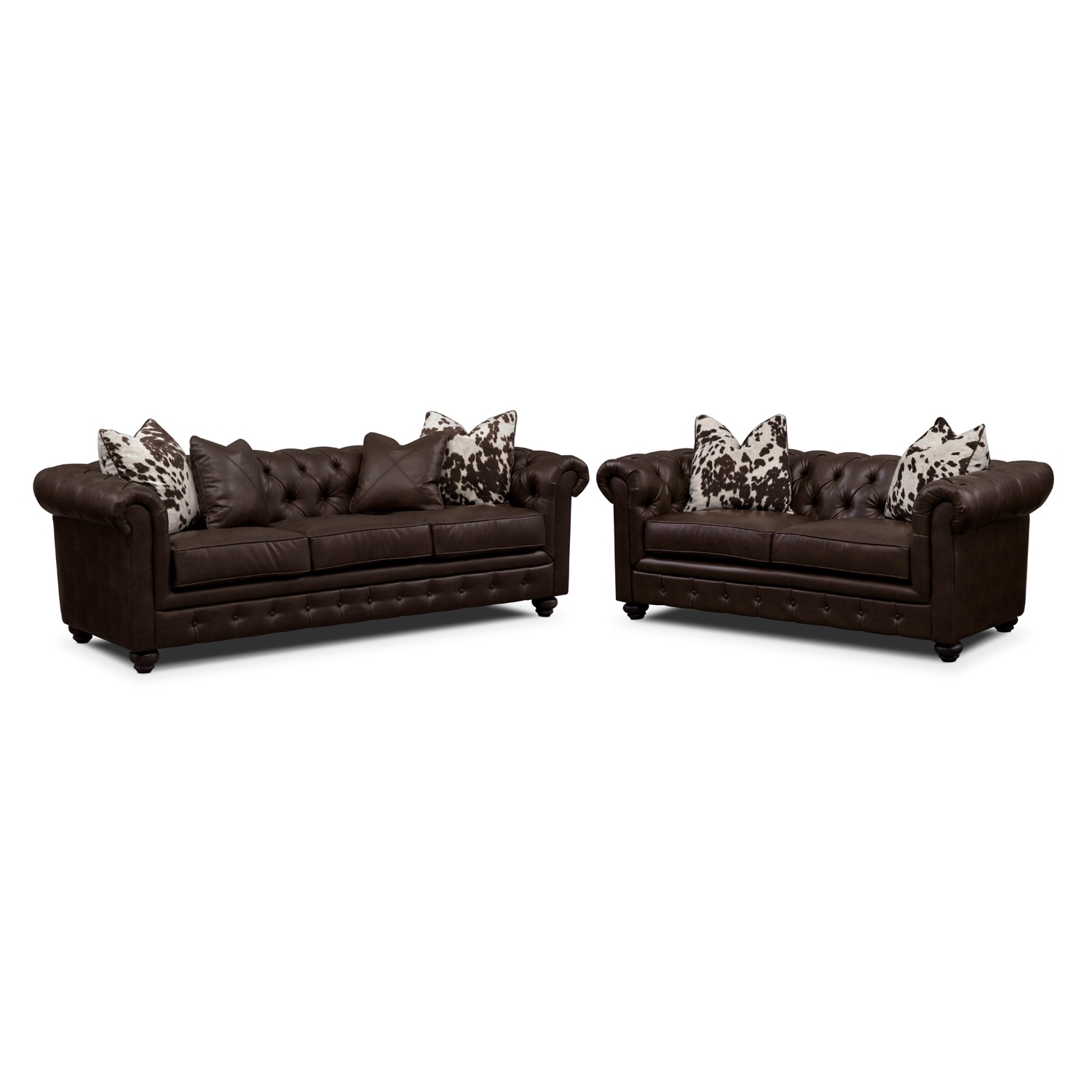 madeline chocolate 2 pc living room set value city