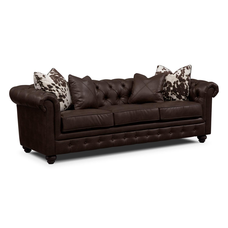 Living Room Furniture - Marquette Chocolate Sofa