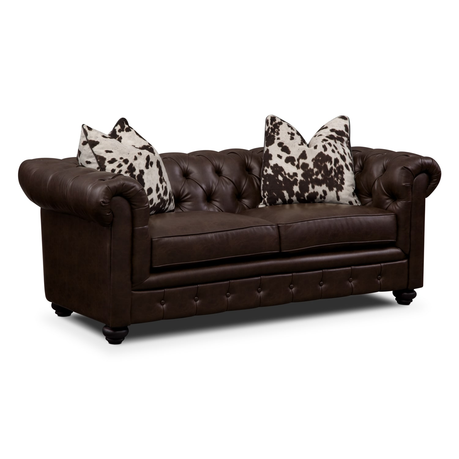 Madeline Ii Leather Apartment Sofa Value City Furniture