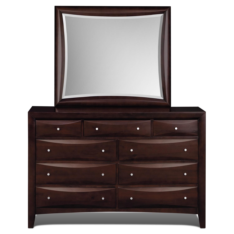bedroom furniture clarion dresser mirror