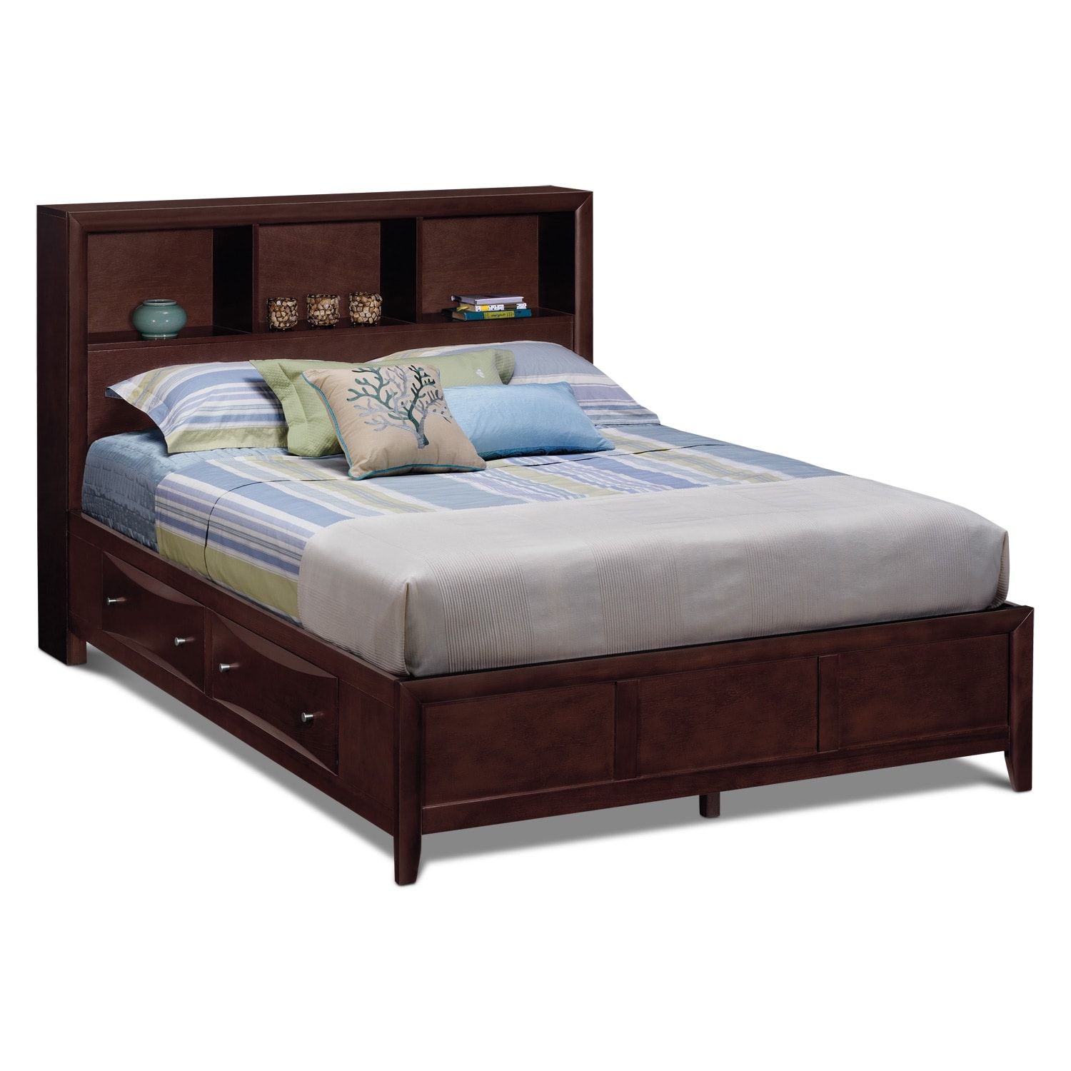 clarion 6 pc king wall bedroom american signature furniture