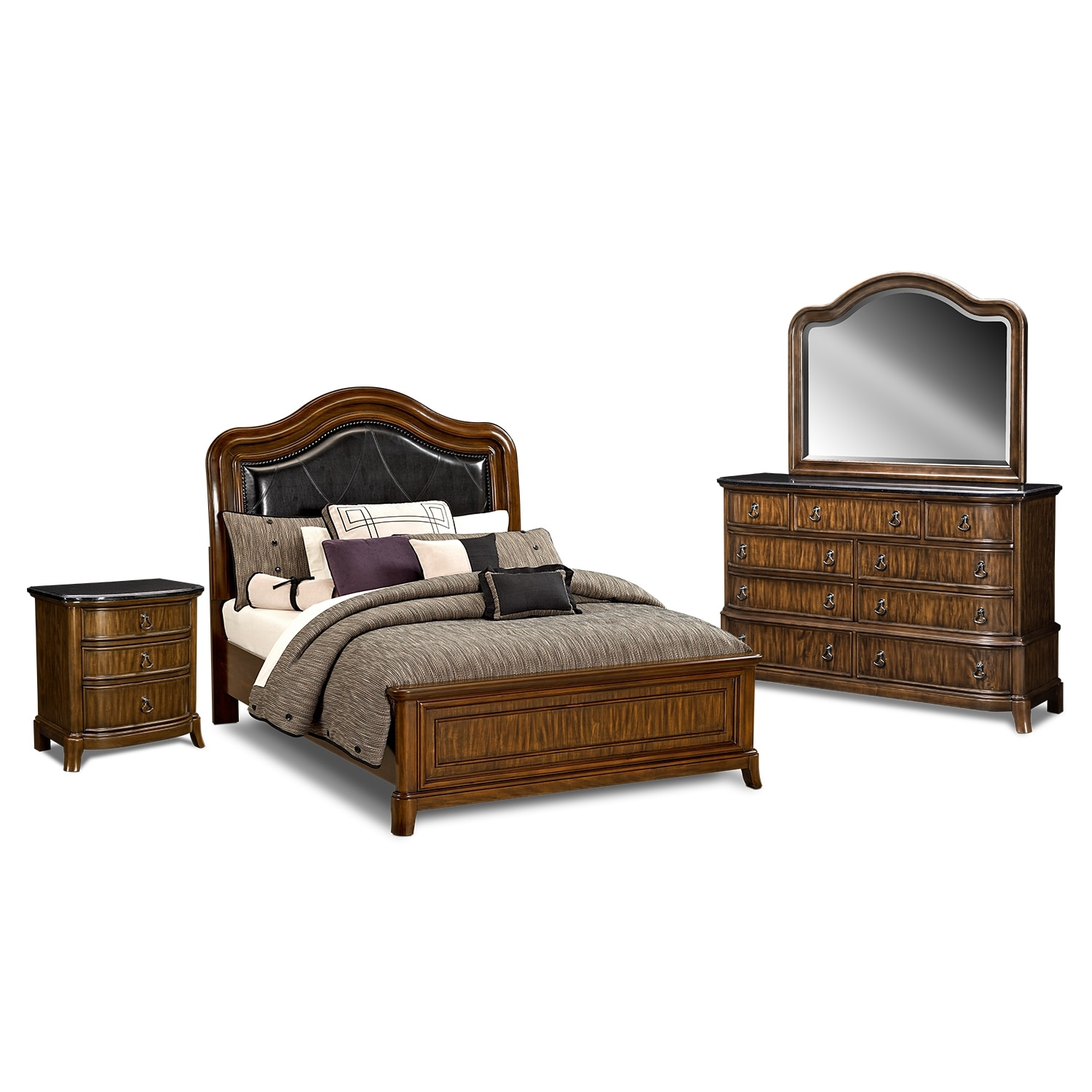 kingston bedroom 6 pc queen bedroom value city furniture