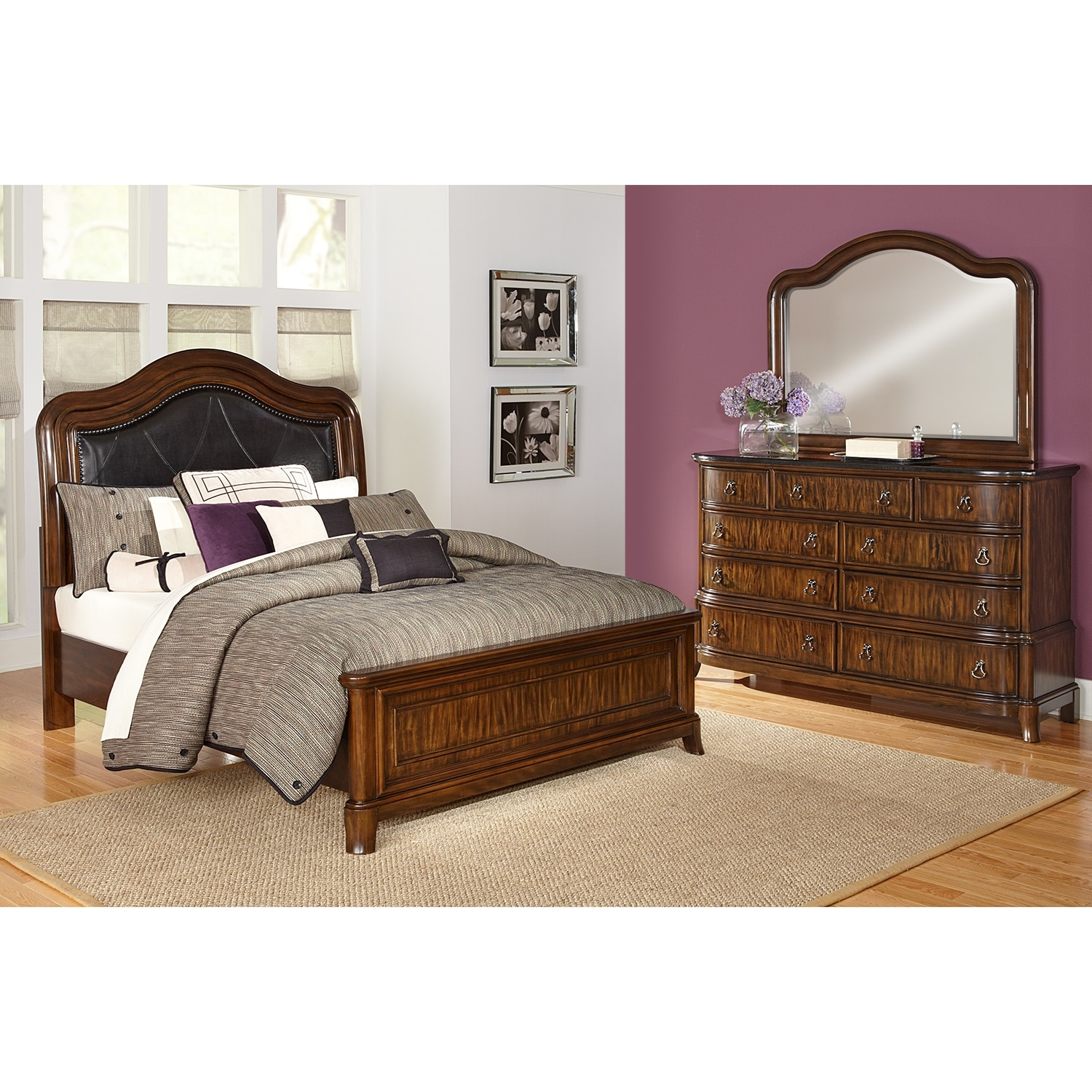 kingston bedroom 5 pc king bedroom value city furniture. Black Bedroom Furniture Sets. Home Design Ideas
