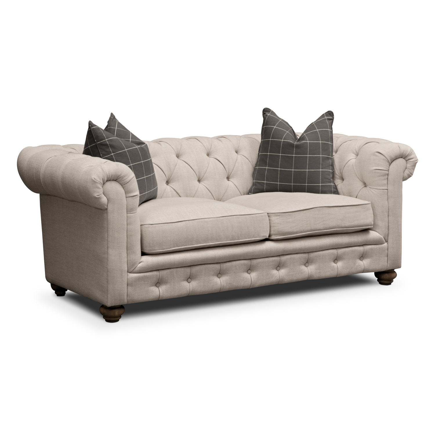 Madeline upholstery apartment sofa value city furniture for Sofa couch for sale