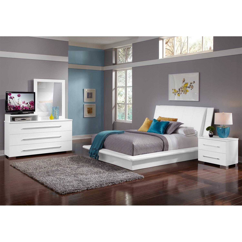 dimora white bedroom 6 pc king bedroom value city furniture