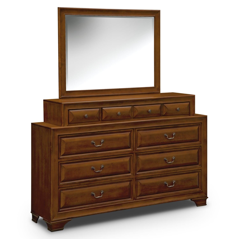 Storehouse Bedroom Furniture: Sanibelle 6-Piece King Storage Bedroom Set - Pine
