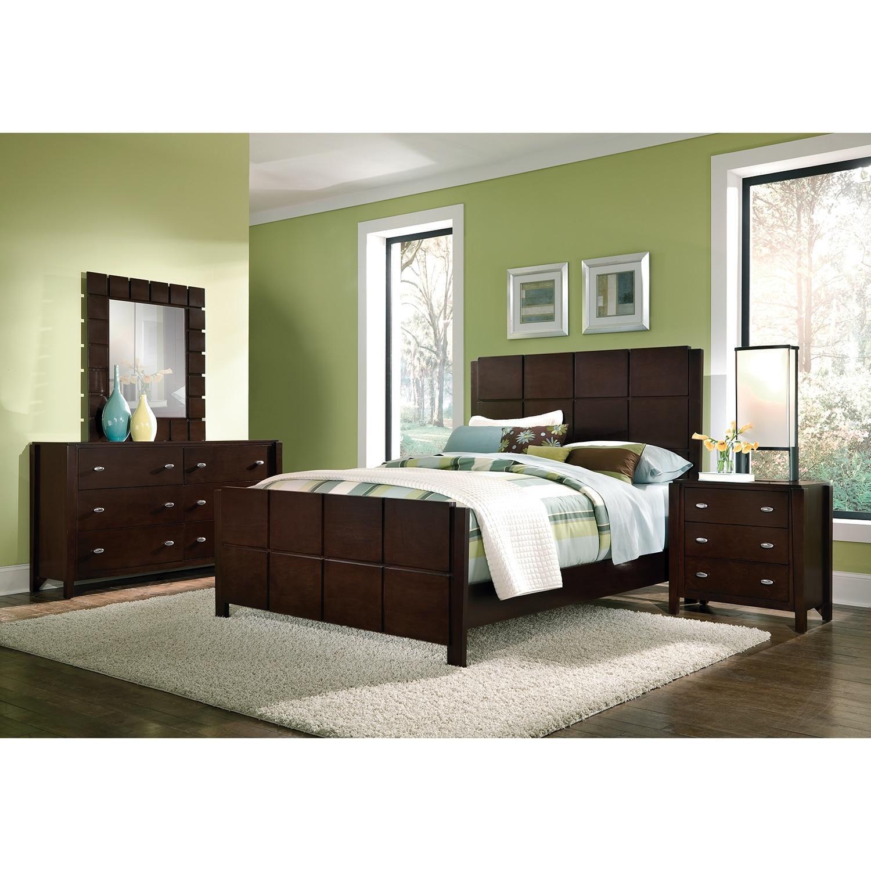 Mosaic 6-Piece King Bedroom Set - Dark Brown