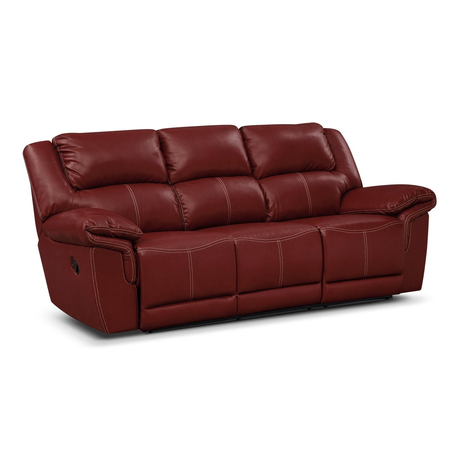 Jaguar Ii Leather Dual Reclining Sofa Value City Furniture
