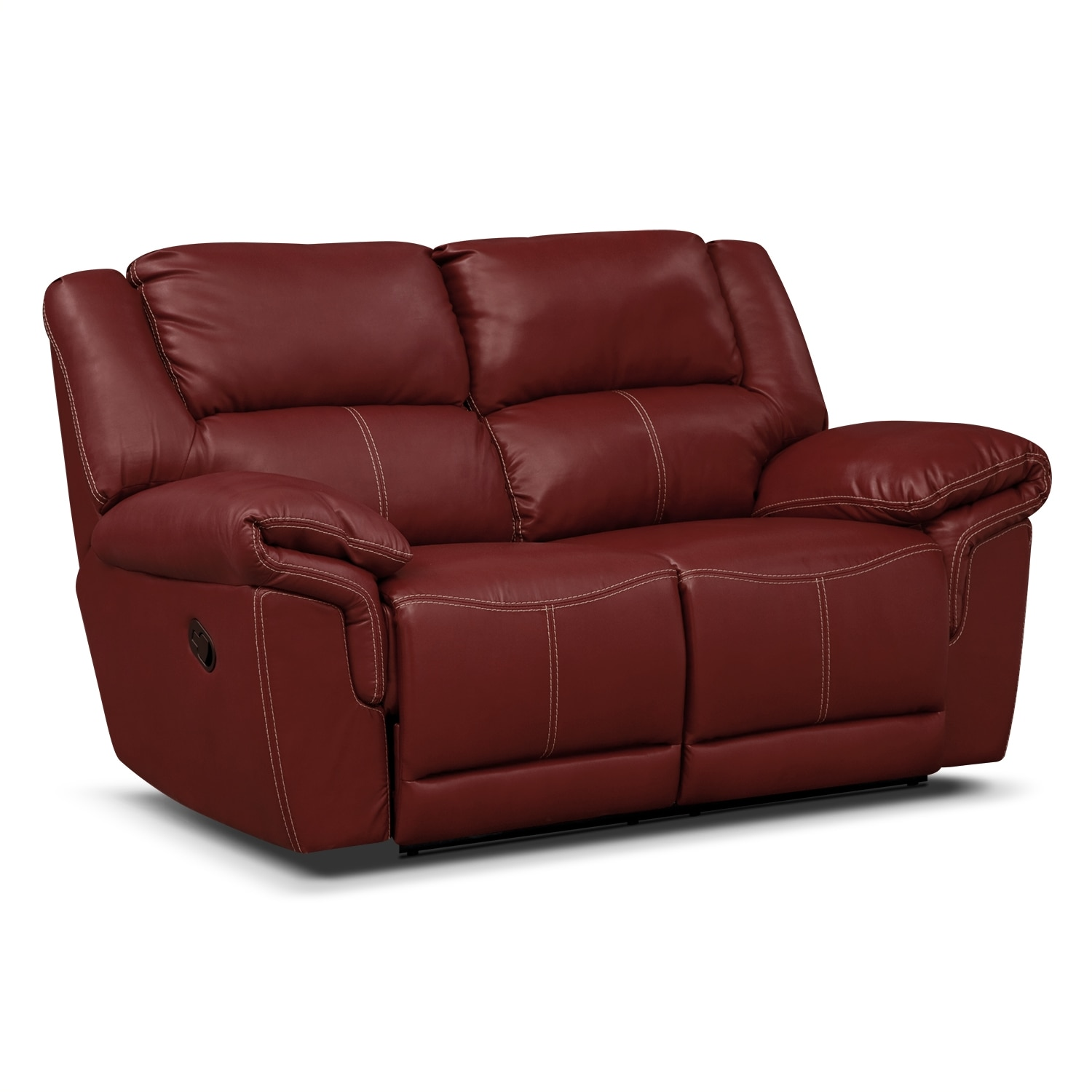 Jaguar ii leather dual reclining loveseat value city furniture Loveseats that recline