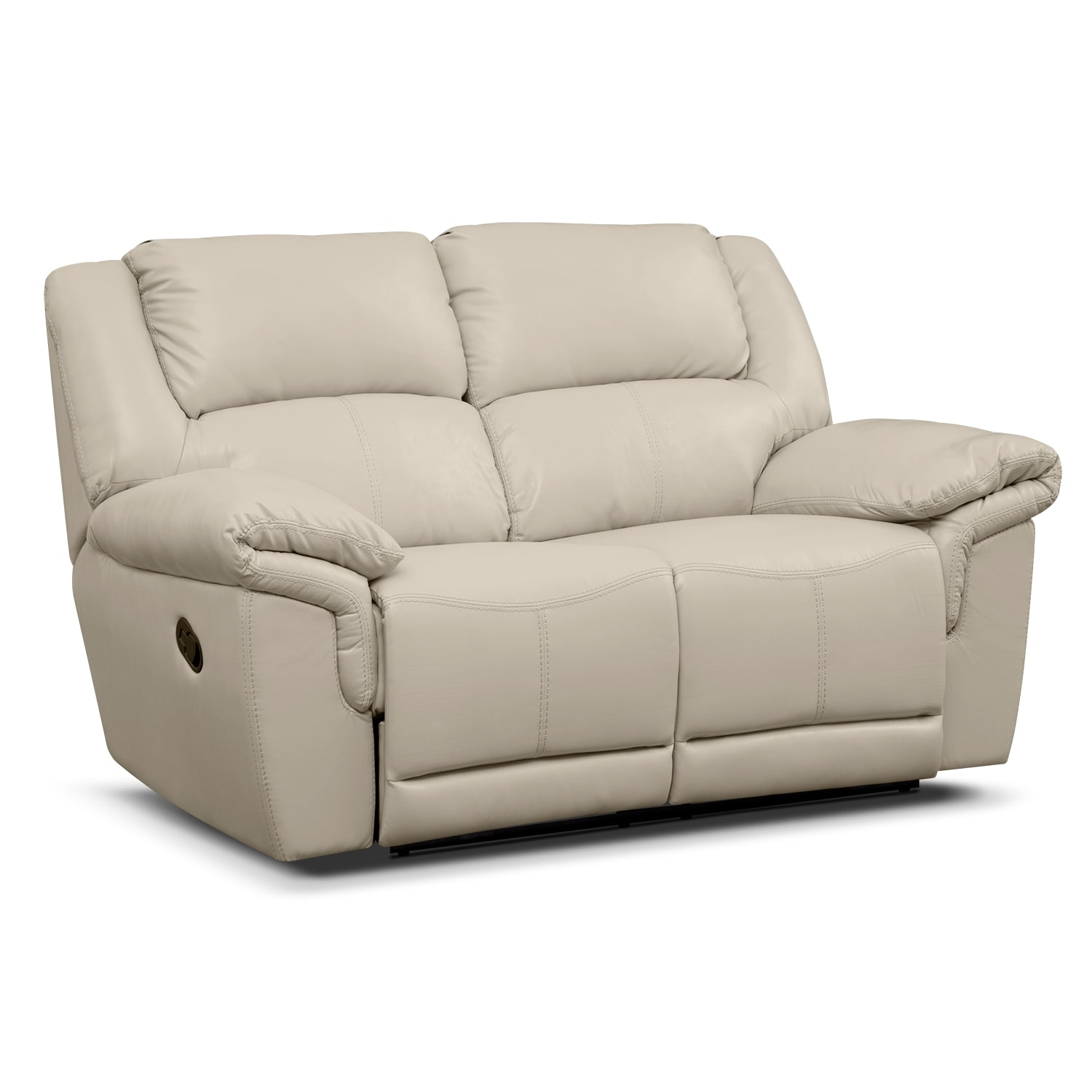 Jaguar Iii Leather Dual Reclining Loveseat Value City Furniture