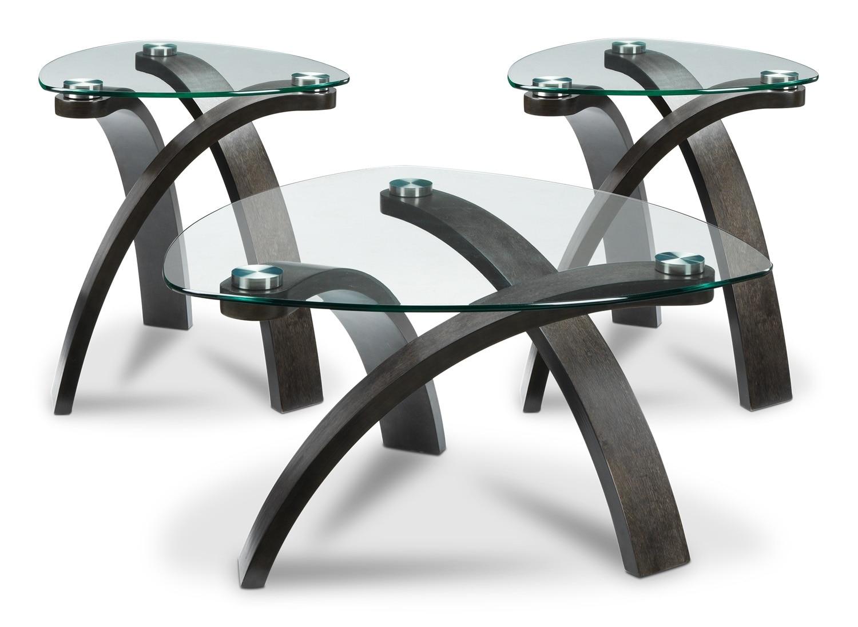 Azalea 3-Piece Table Set - Charcoal