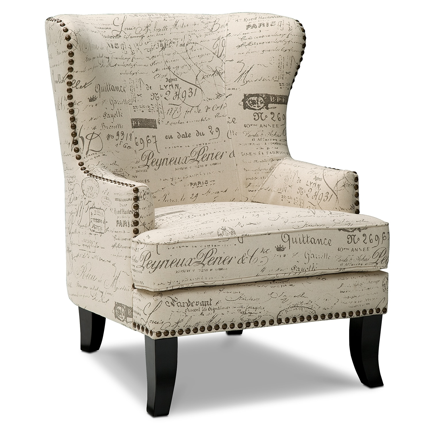 Calais upholstery accent chair for Living room accent chairs