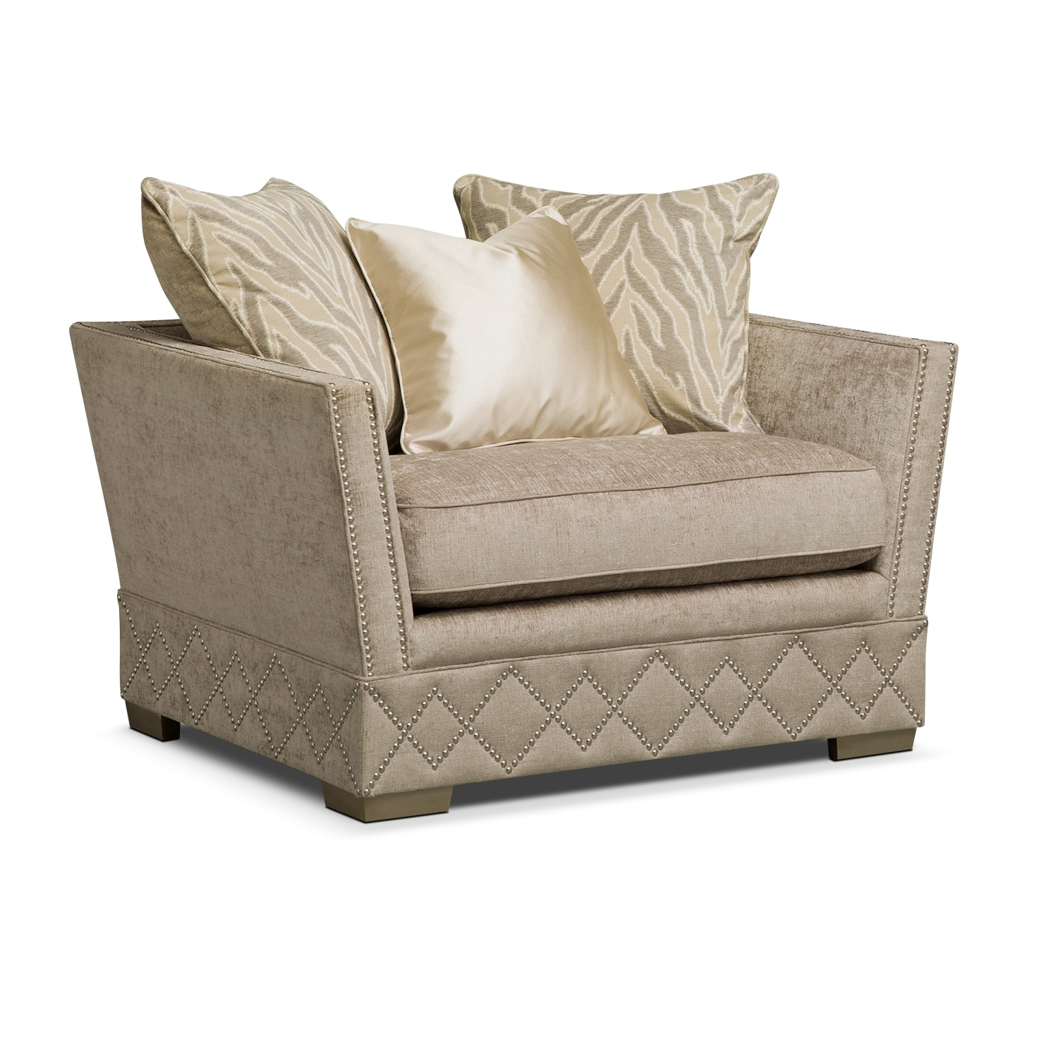 Vizcaya Upholstery Chair And A Half Value City Furniture