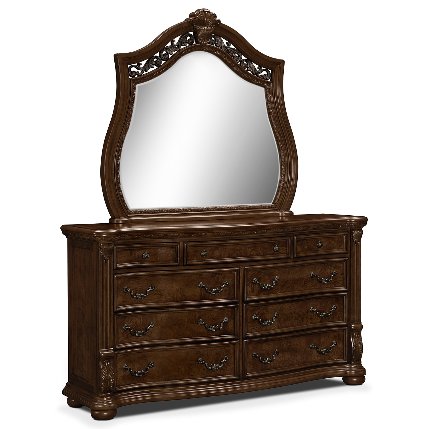 morocco dresser mirror value city furniture