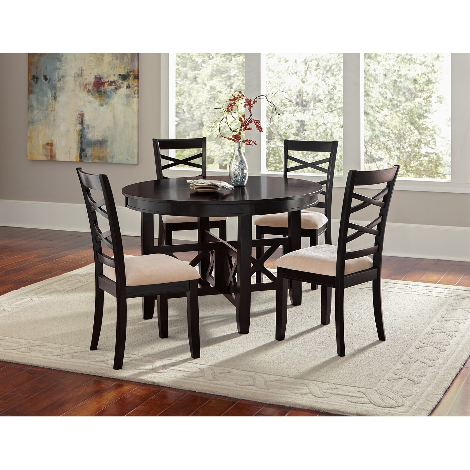 Americana dining room side chair value city furniture for Dining area furniture