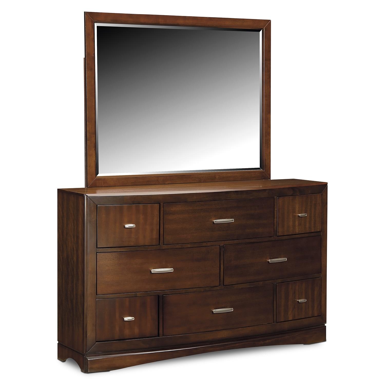 bedroom furniture toronto dresser and mirror pecan