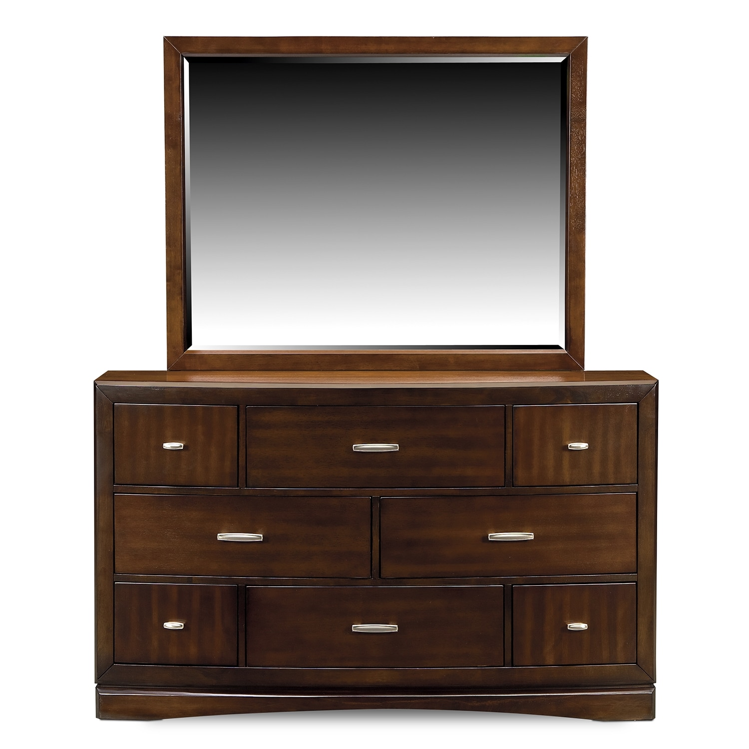 Toronto Dresser And Mirror Pecan American Signature Furniture