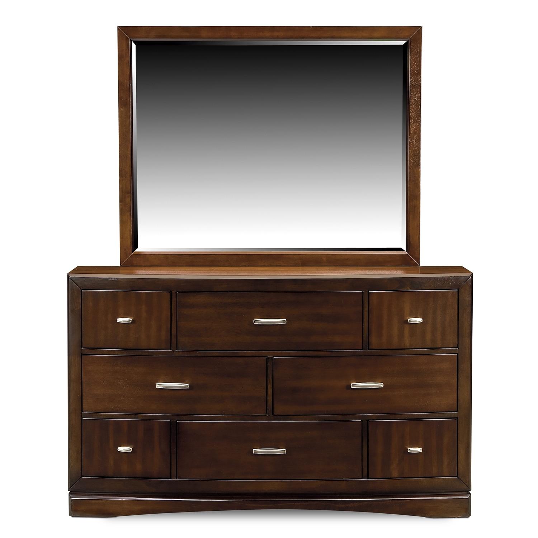 Toronto Dresser And Mirror Pecan Value City Furniture
