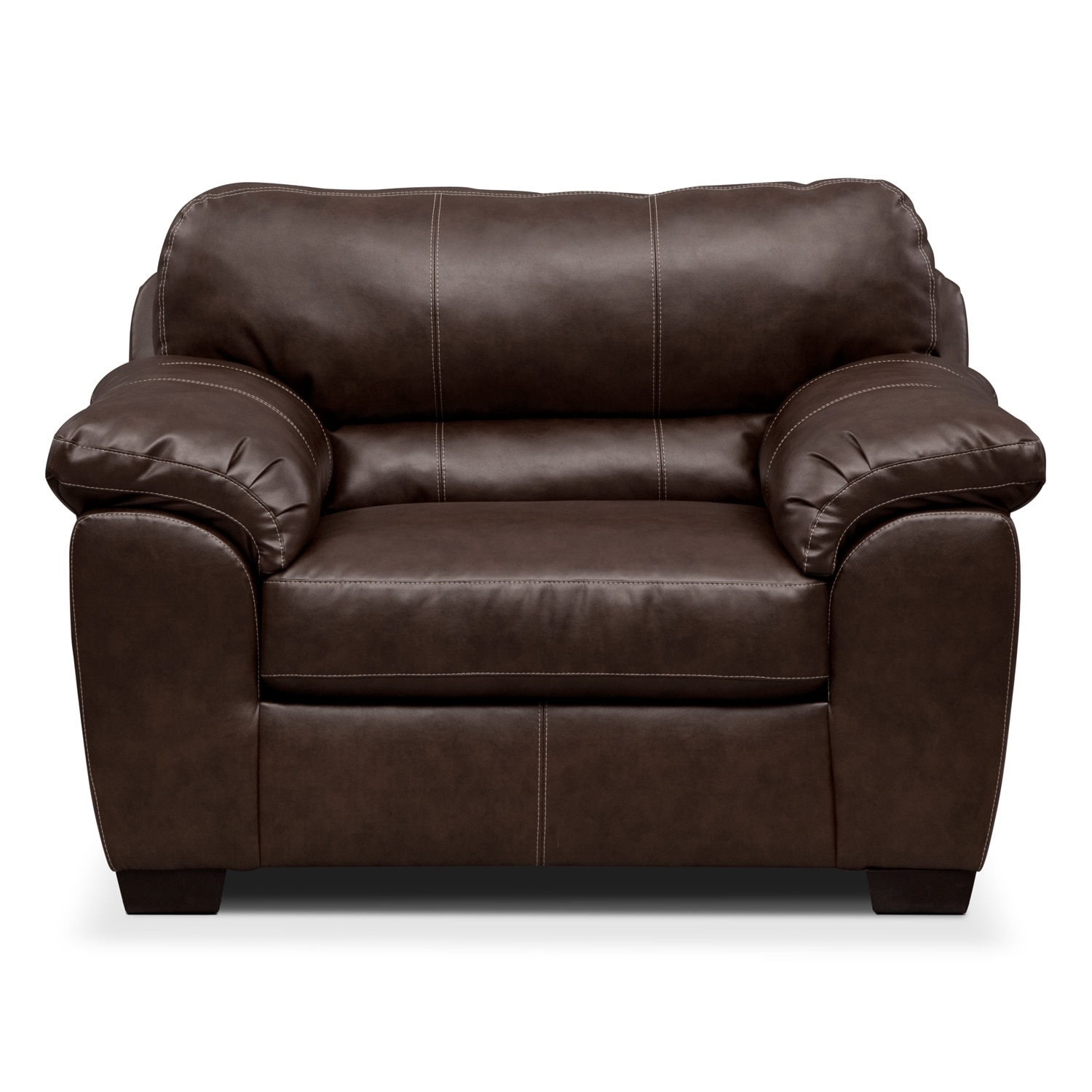 colton ii leather chair and a half value city furniture