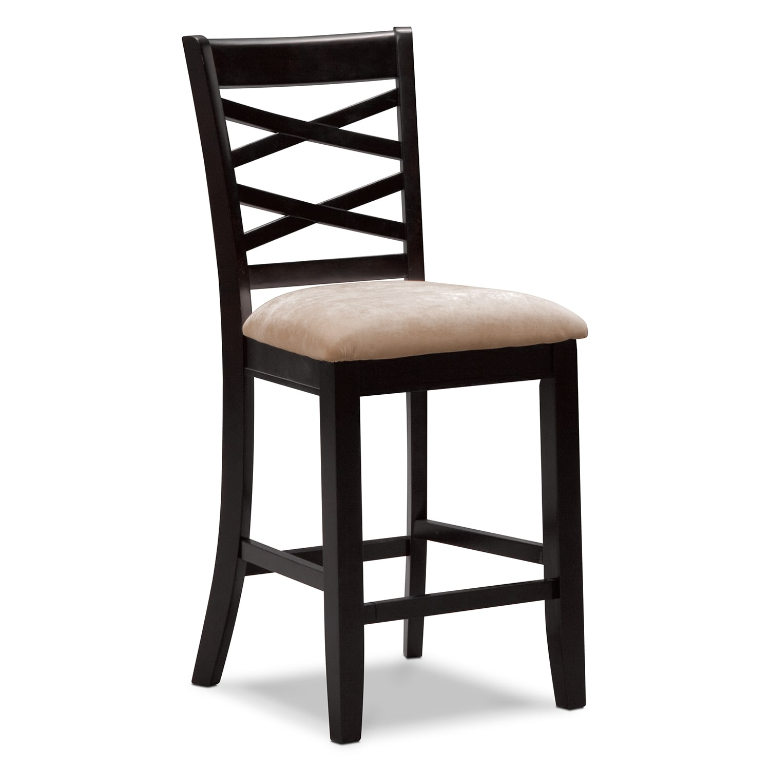 Davis counter height stool espresso for Counter height bar stools