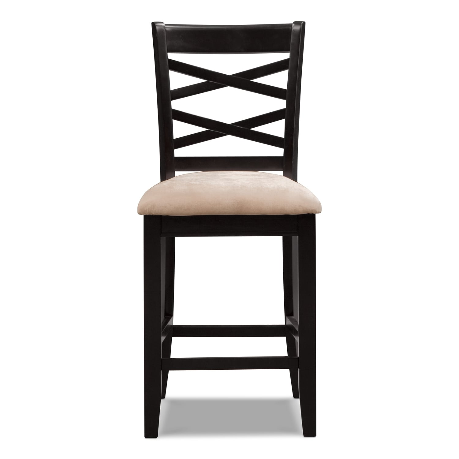 Davis counter height stool espresso for Bar stool height