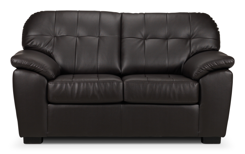 Living Room Furniture - Lisina Loveseat - Chocolate
