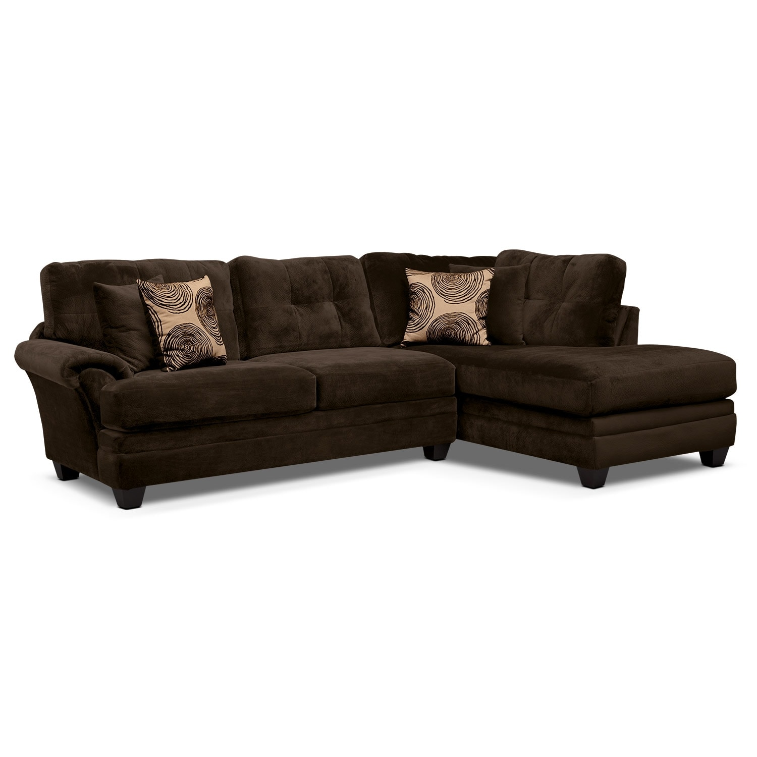 [Cordoba Chocolate II 2 Pc. Sectional]