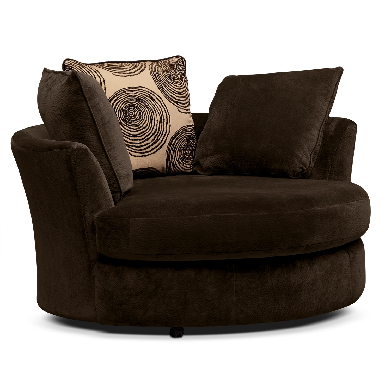 [Cordoba Chocolate Swivel Chair]