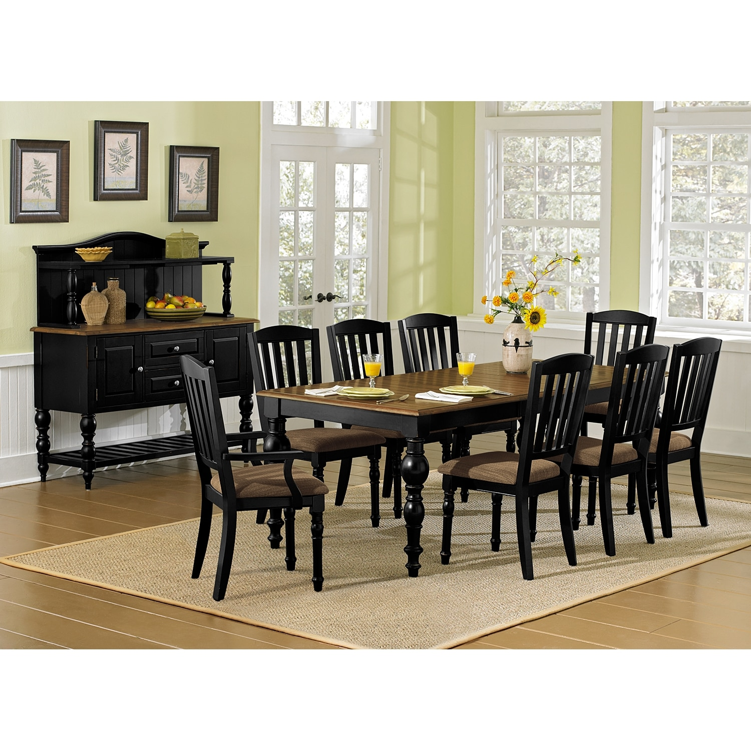 Castleton dining room arm chair value city furniture for Dining room value city furniture