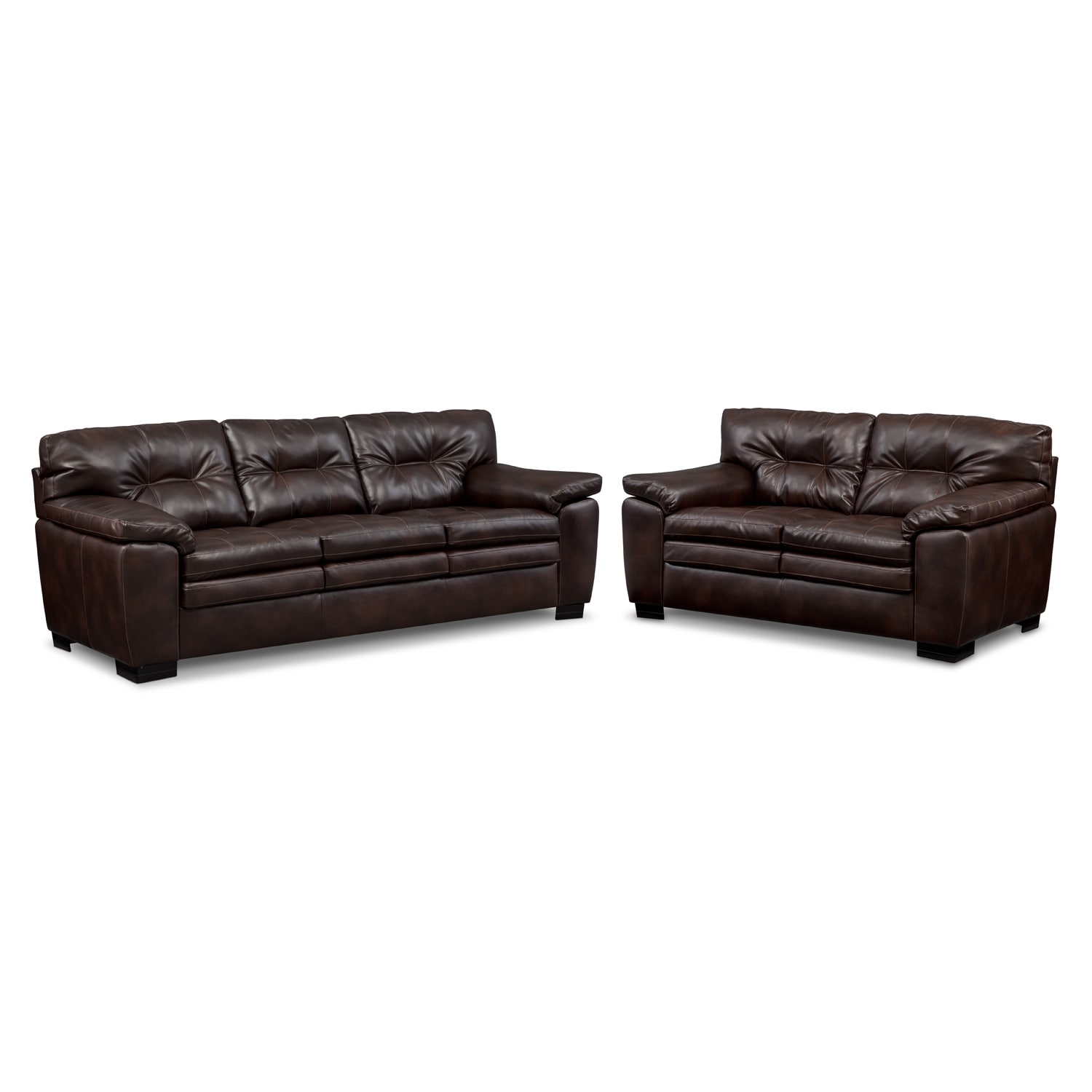 [Legend Brown 2 Pc. Living Room]