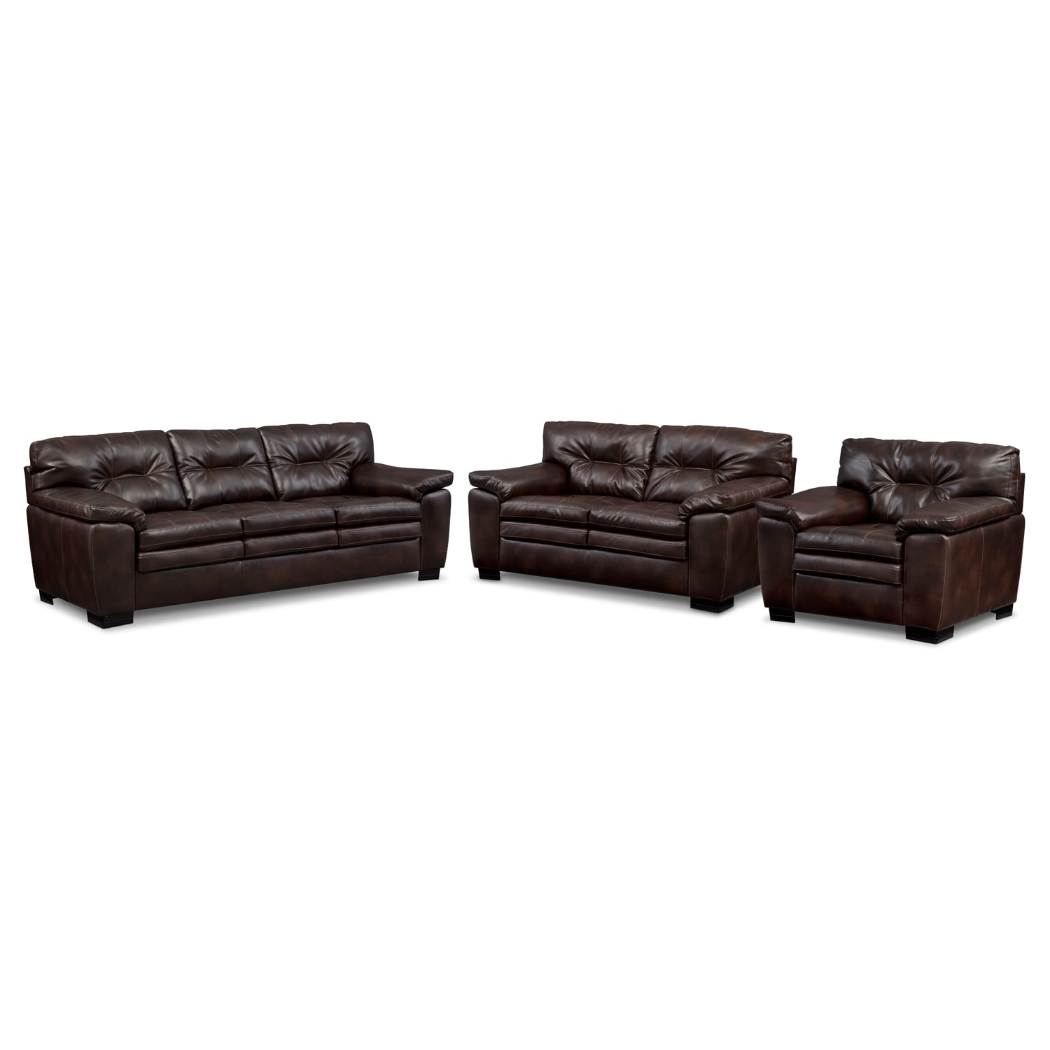 [Legend Brown 3 Pc. Living Room]