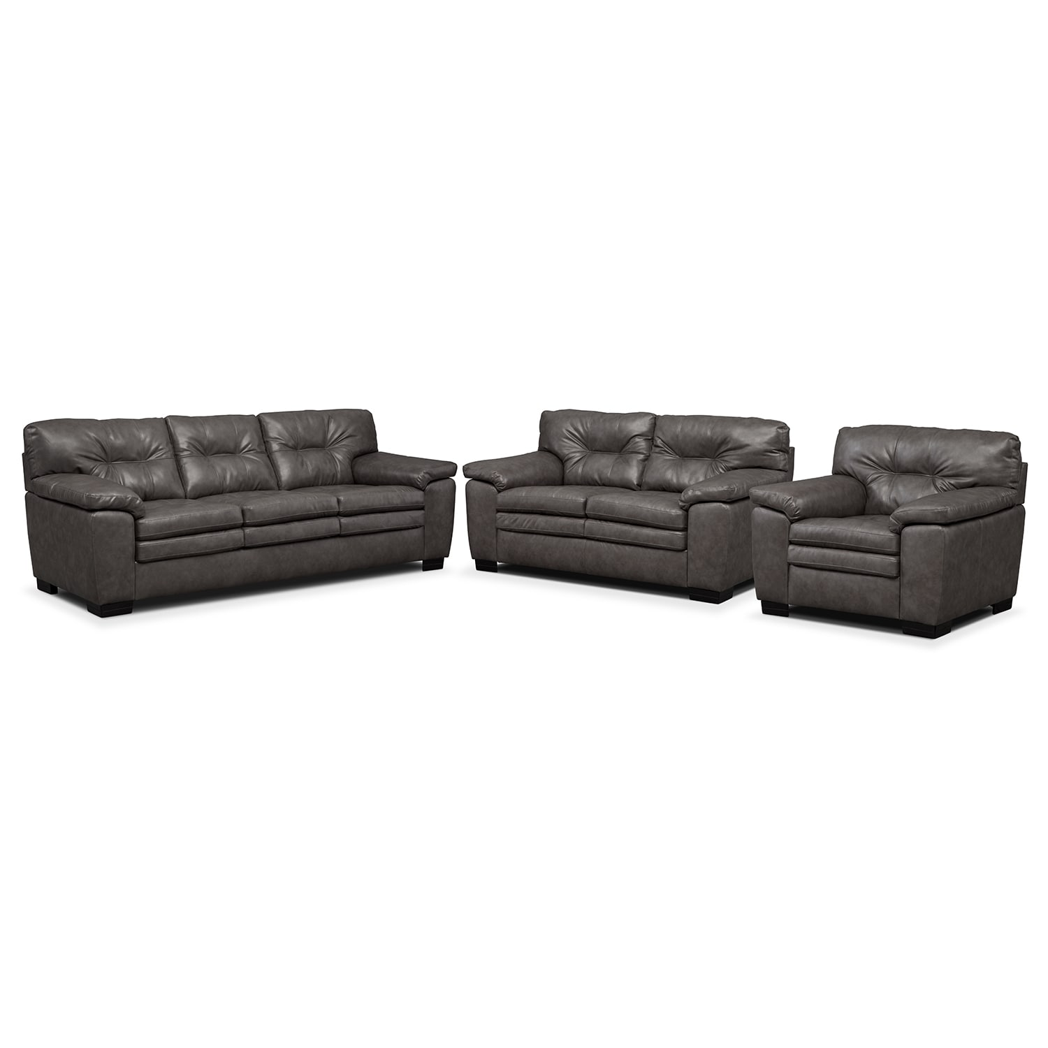 [Legend Gray 3 Pc. Living Room]