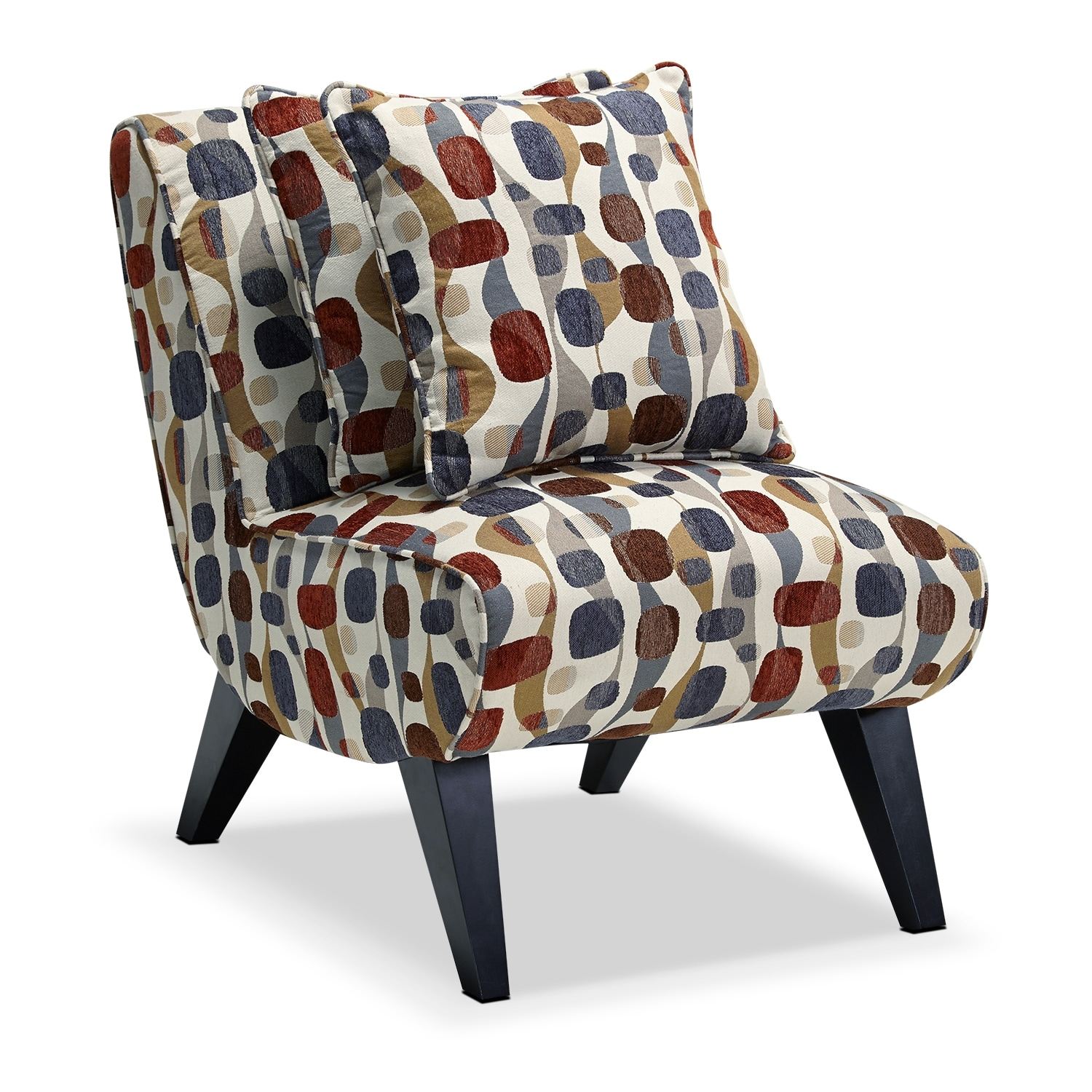 Adrian accent accent chair value city furniture for Accent furniture
