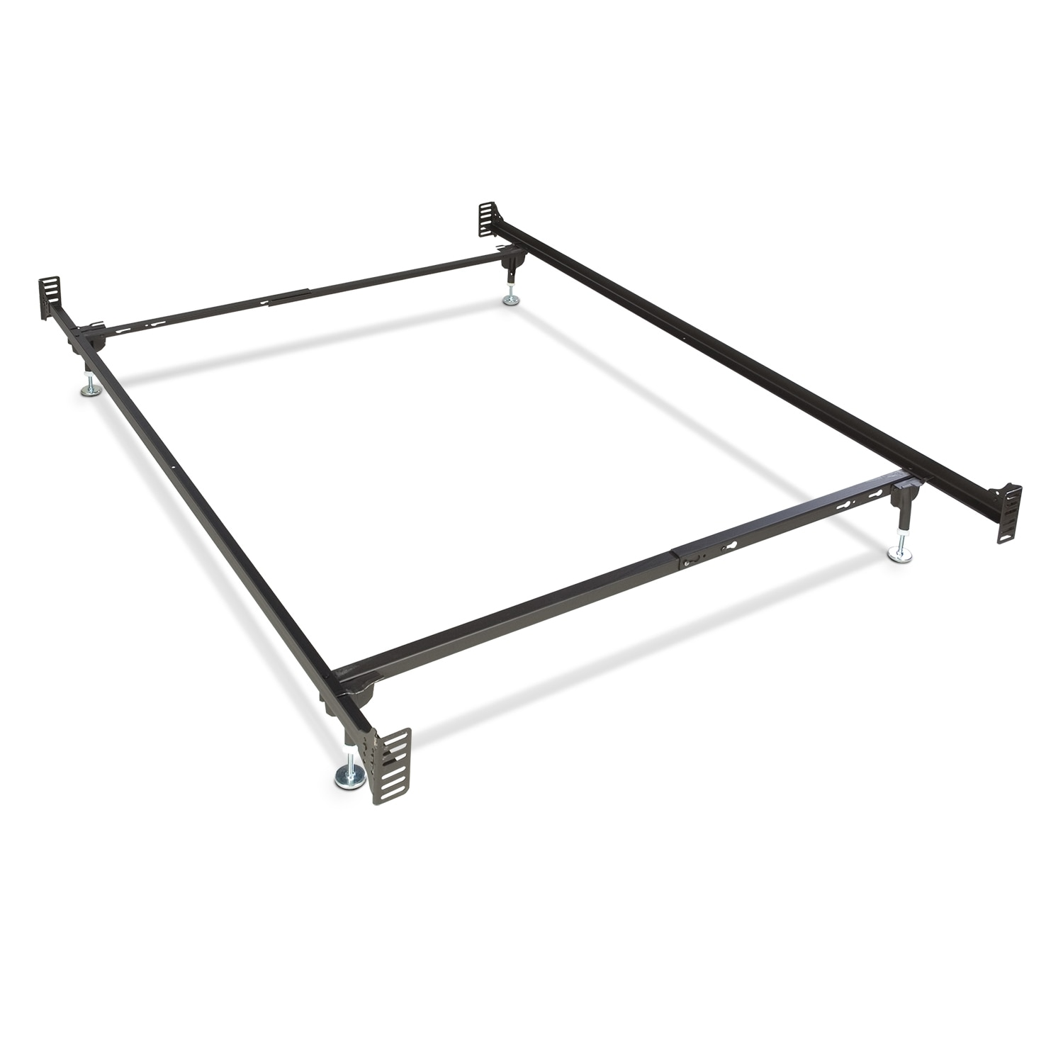 Bb24 deluxe twin full glide bed frame for Twin mattress and frame