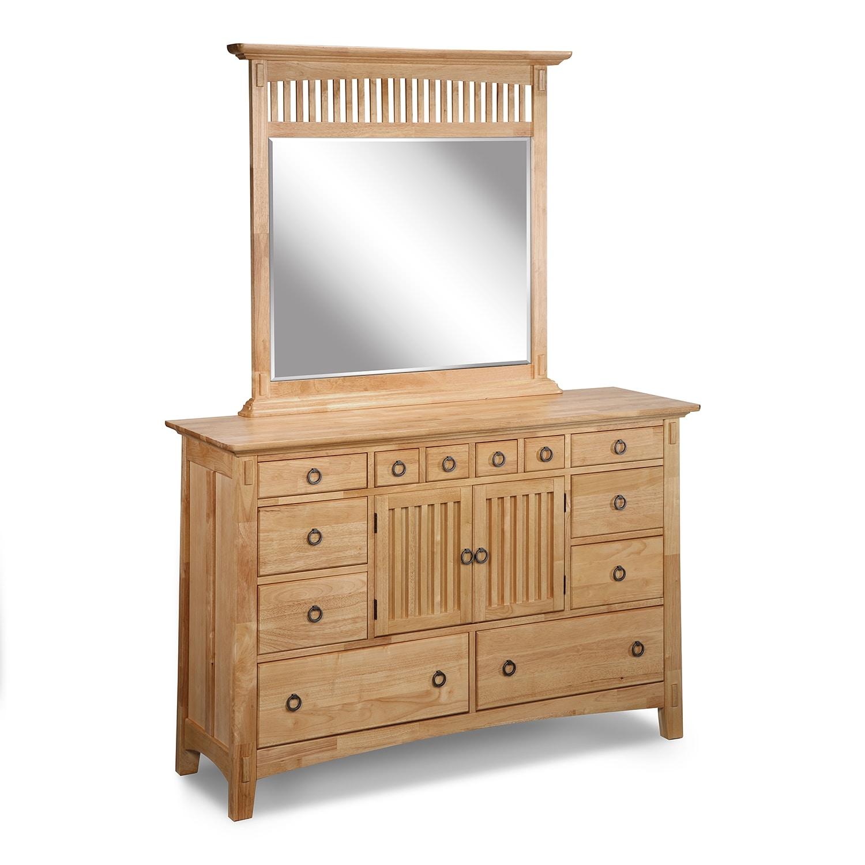 [Arts & Crafts Light Dresser & Mirror]