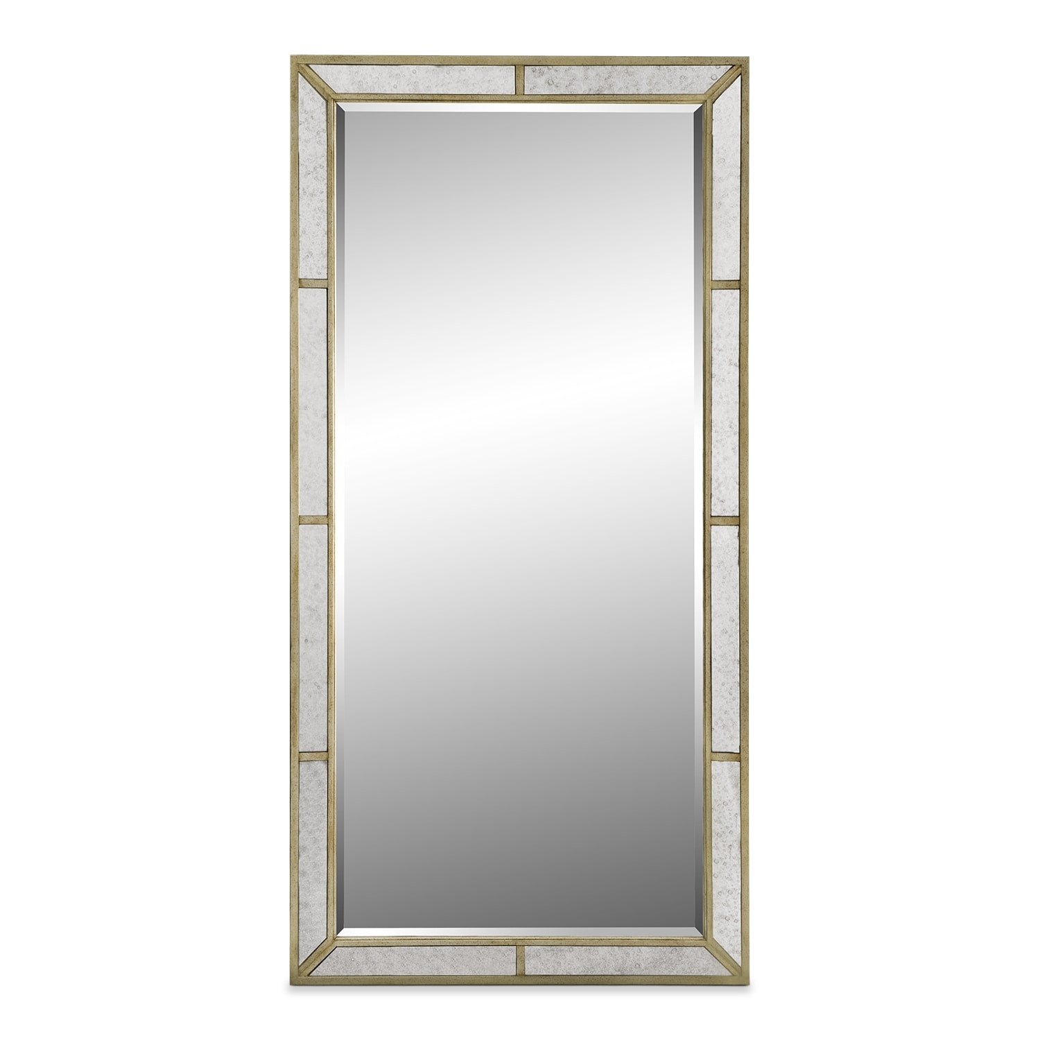 Angelina floor mirror value city furniture for Standing mirror for bedroom
