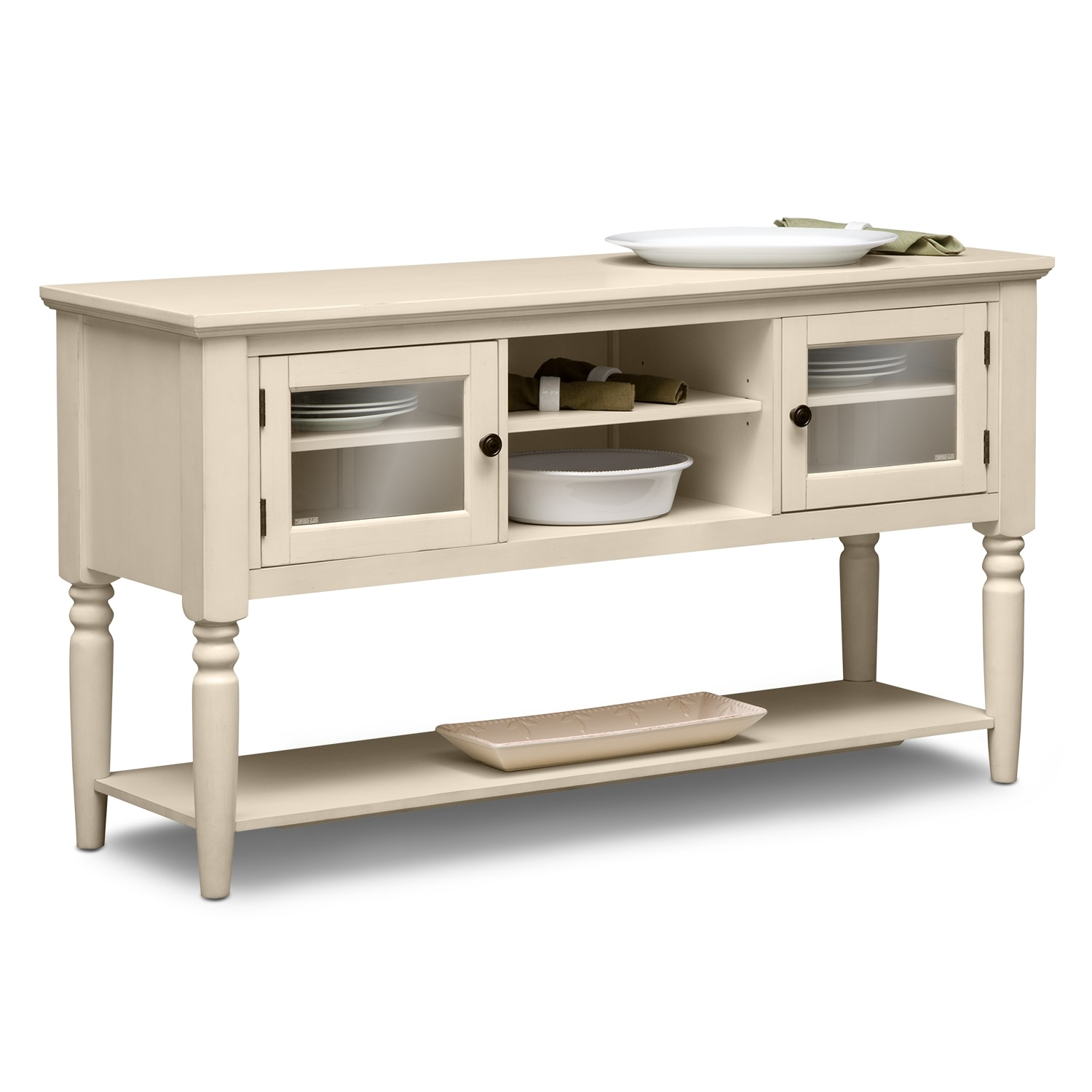 Thompson cream server - Dining room server furniture ...