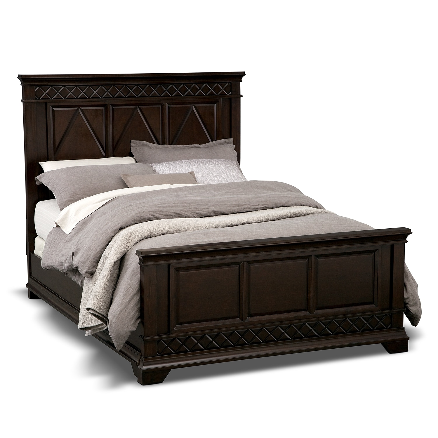 bedroom furniture diamante queen bed