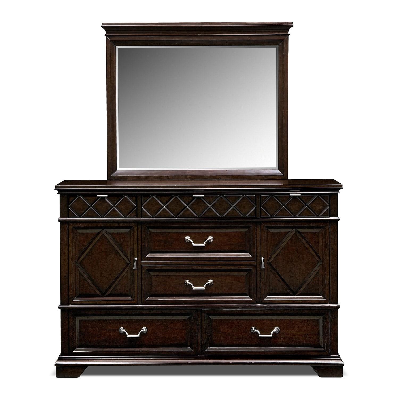 bedroom furniture diamante dresser mirror