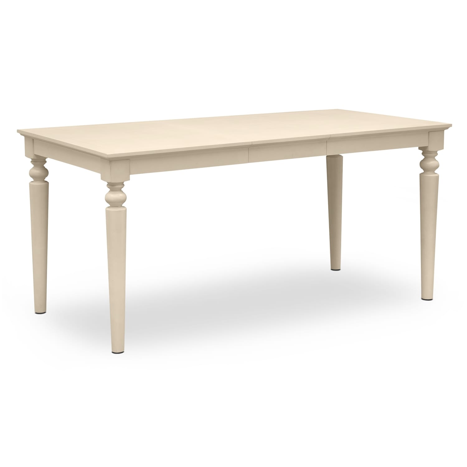 Carnival white ii dining room counter height table value for Dining room table height