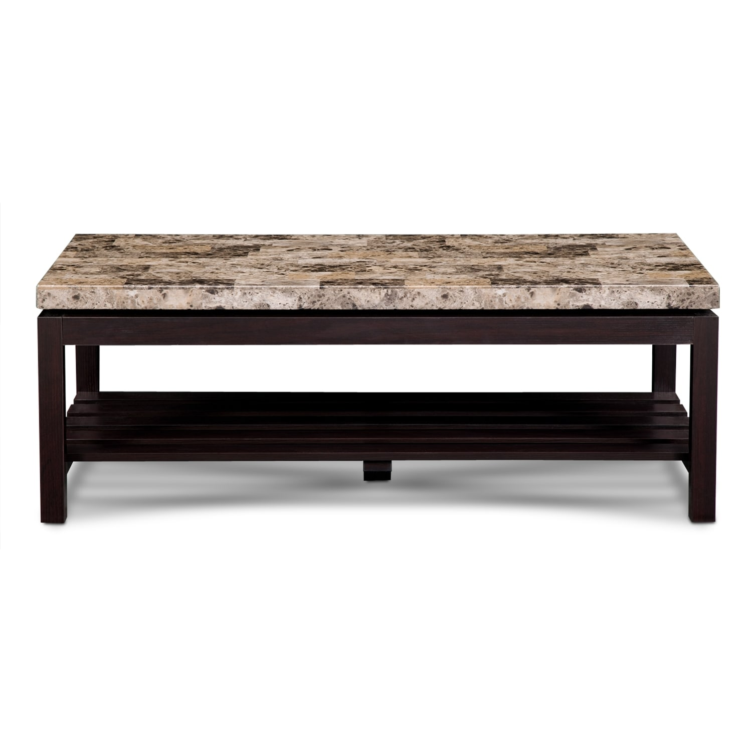 Audra cocktail table value city furniture for Coffee tables value city furniture