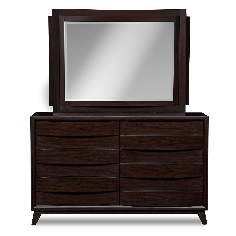 bedroom furniture cascade dresser mirror